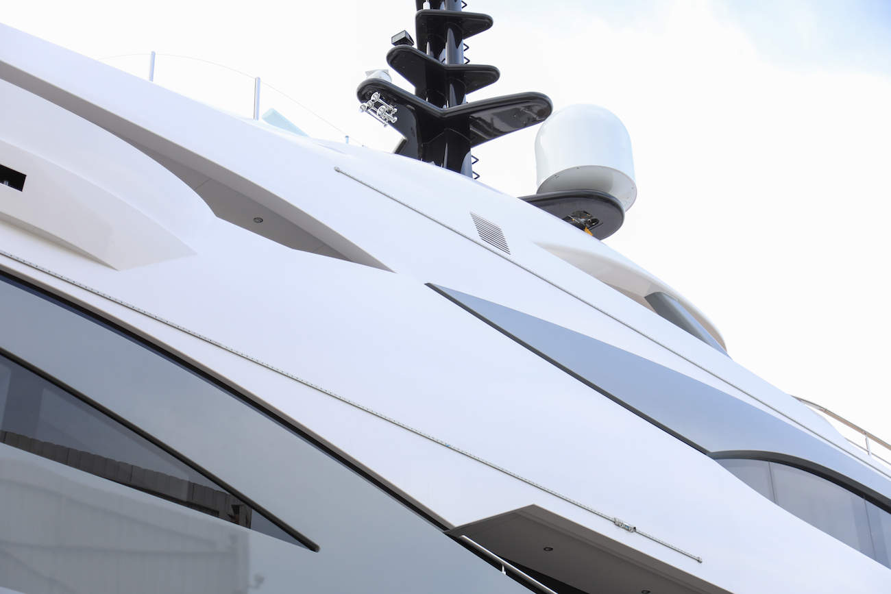 Detail of yacht