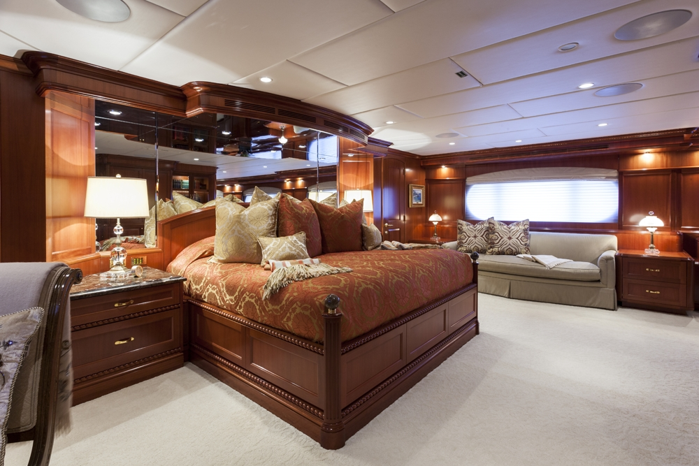 Elegant and luxurious accommodation for charter guests to feel relaxed and pampered