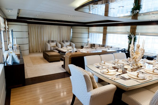 Elegant saloon with formal dining area