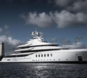 95m Lurssen superyacht Madsummer on sea trials