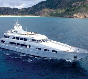45m Trinity yacht ATTITUDE offering 20% off charter vacations in the Bahamas