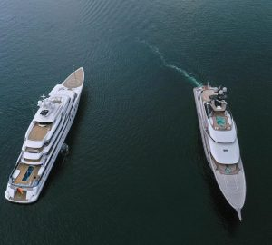 Lurssen 95m Mega Yachts Kismet and Madsummer in the Baltic Sea