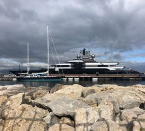 Massive 135m Superyacht CRESCENT in the Mediterranean