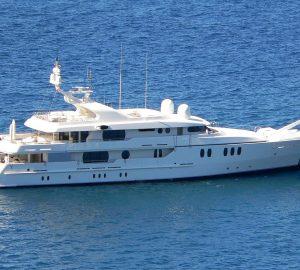 51m Mediterranean charter yacht Vitamin Sea II renamed JAZ