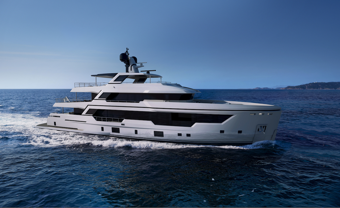 RSY 38m Explorer yacht designed by Sergio Cutolo of HydroTec
