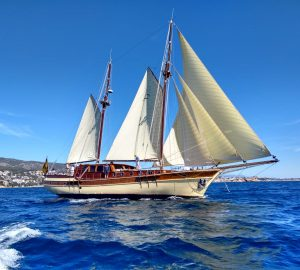 Traditional Turkish Gulet DIRDAM offering unforgettable yacht charters in the Balearics