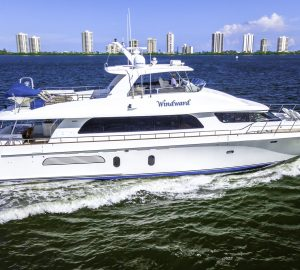 27m Cheoy Lee motor yacht WINDWARD offering spacial charter rate in the Bahamas