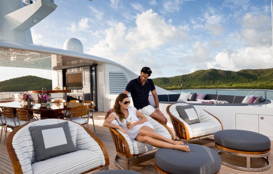 Aboard superyacht INVICTUS