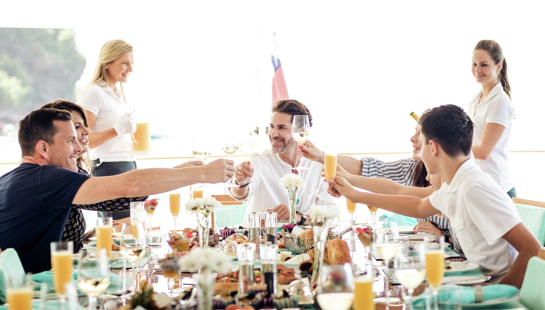 A perfect luxury vacation is not only defined by a beautiful yacht but also by great service, friendly crew and an amazing dining experience