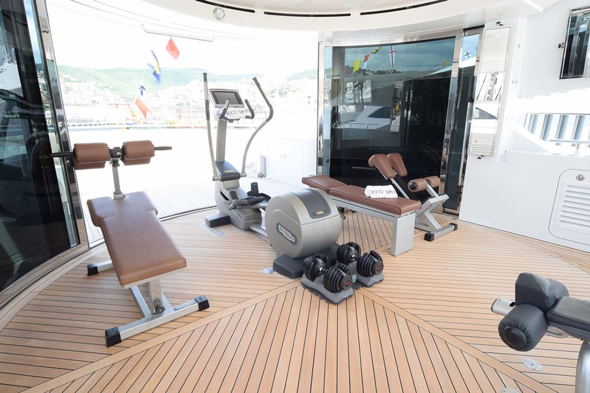 Gym area on board to keep fit even during the holiday