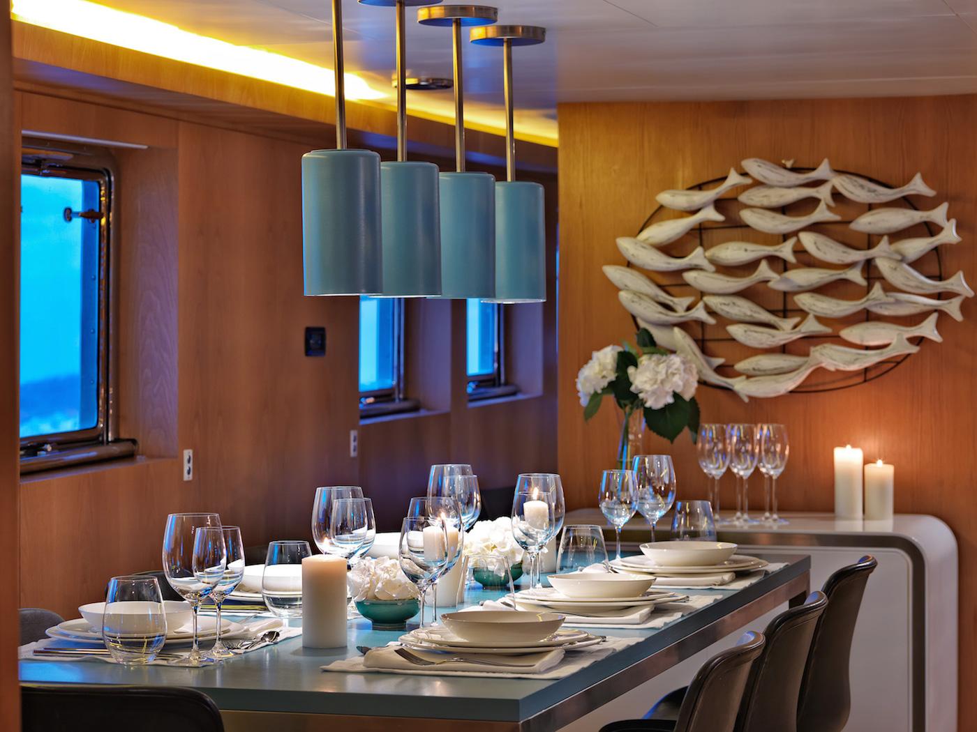 Elegant interior dining