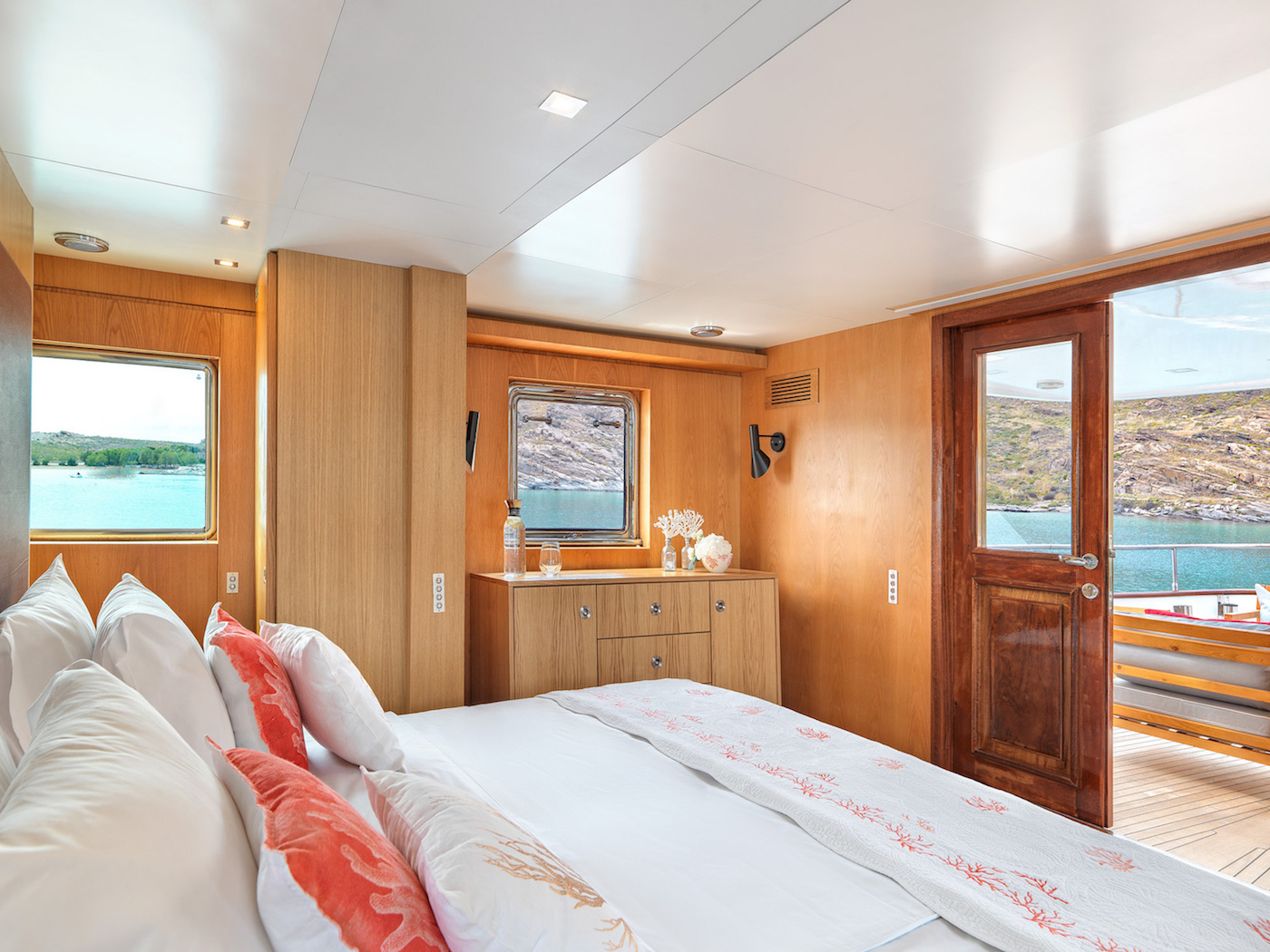 Master suite on the upper deck