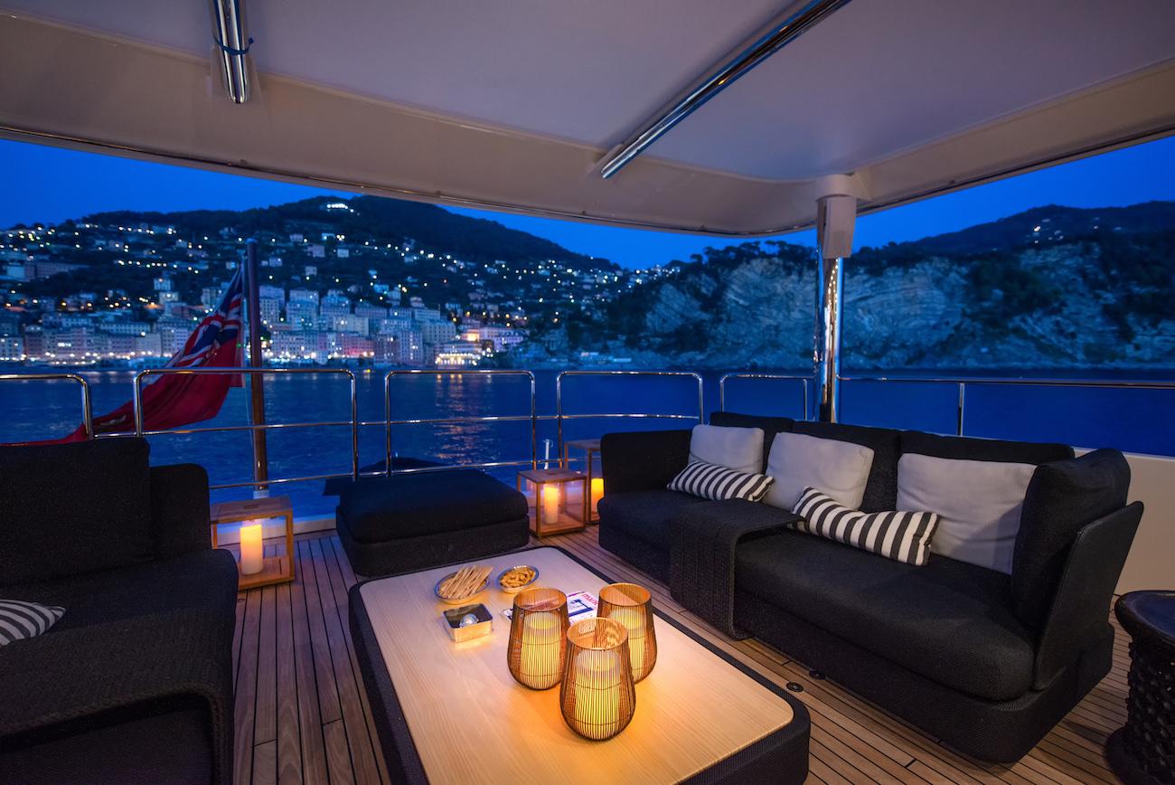 Exterior Upper deck terrace following refit - PHOTO CREDIT VALERIO PARDI