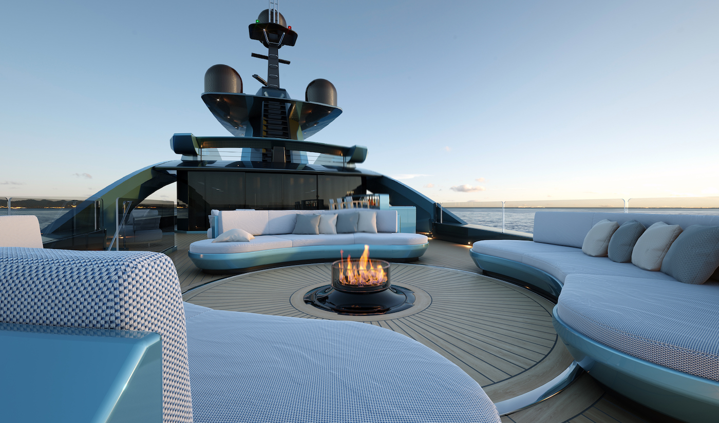 Fireplace on board