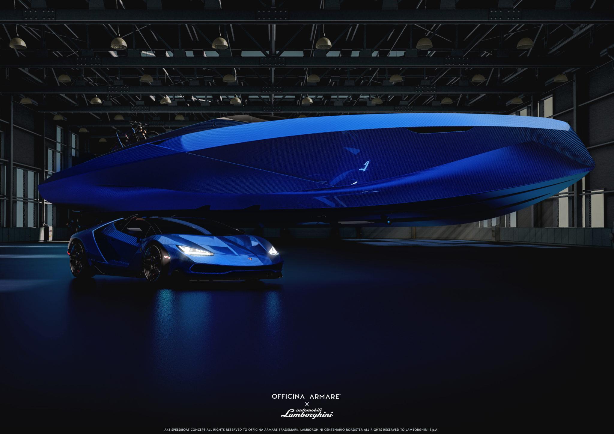 Lamborghini-inspired luxury day cruiser A43 fromOfficina Armare Design