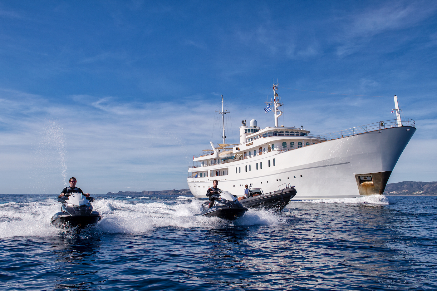 Luxury motor yacht SHERAKHAN is an ideal choice for large groups