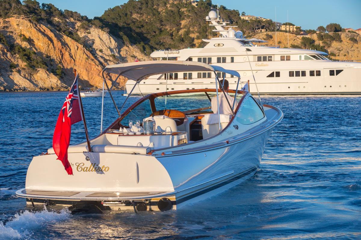 Motor Yacht CALLISTO with her tender