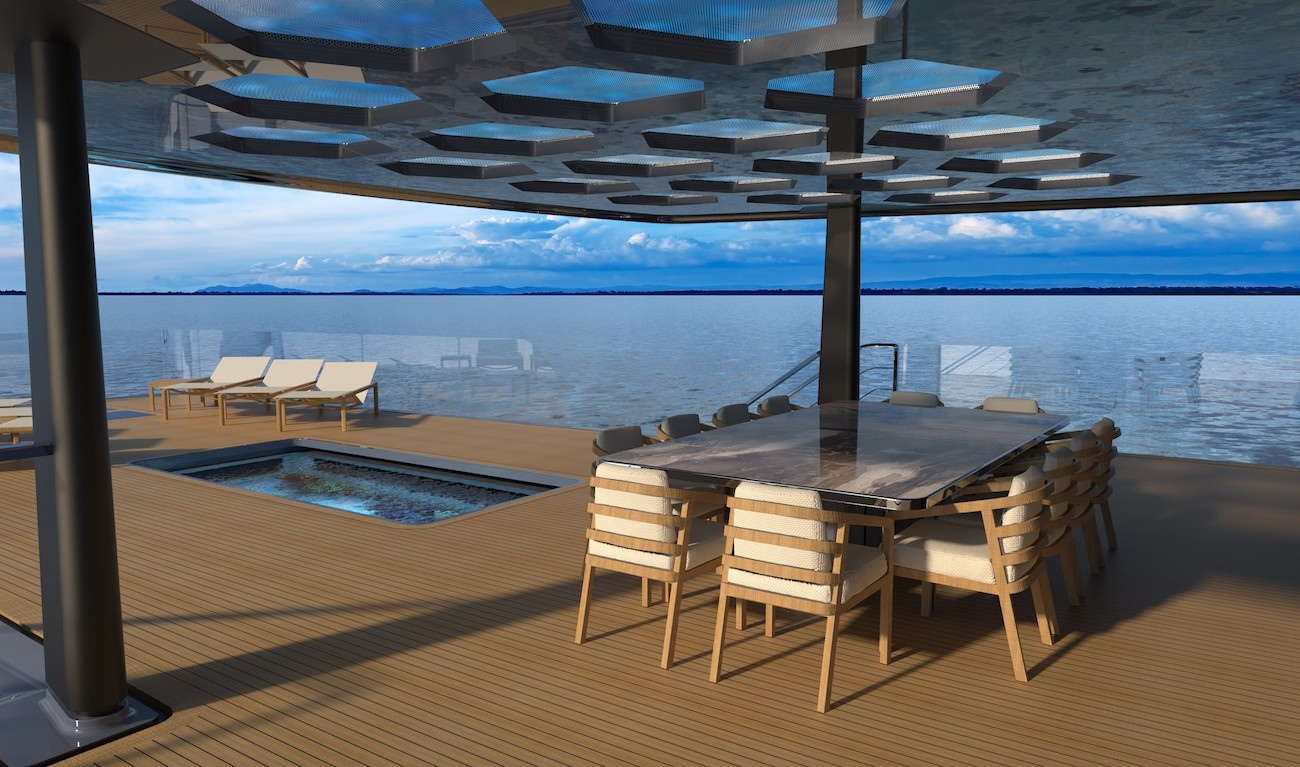 exterior deck with pool