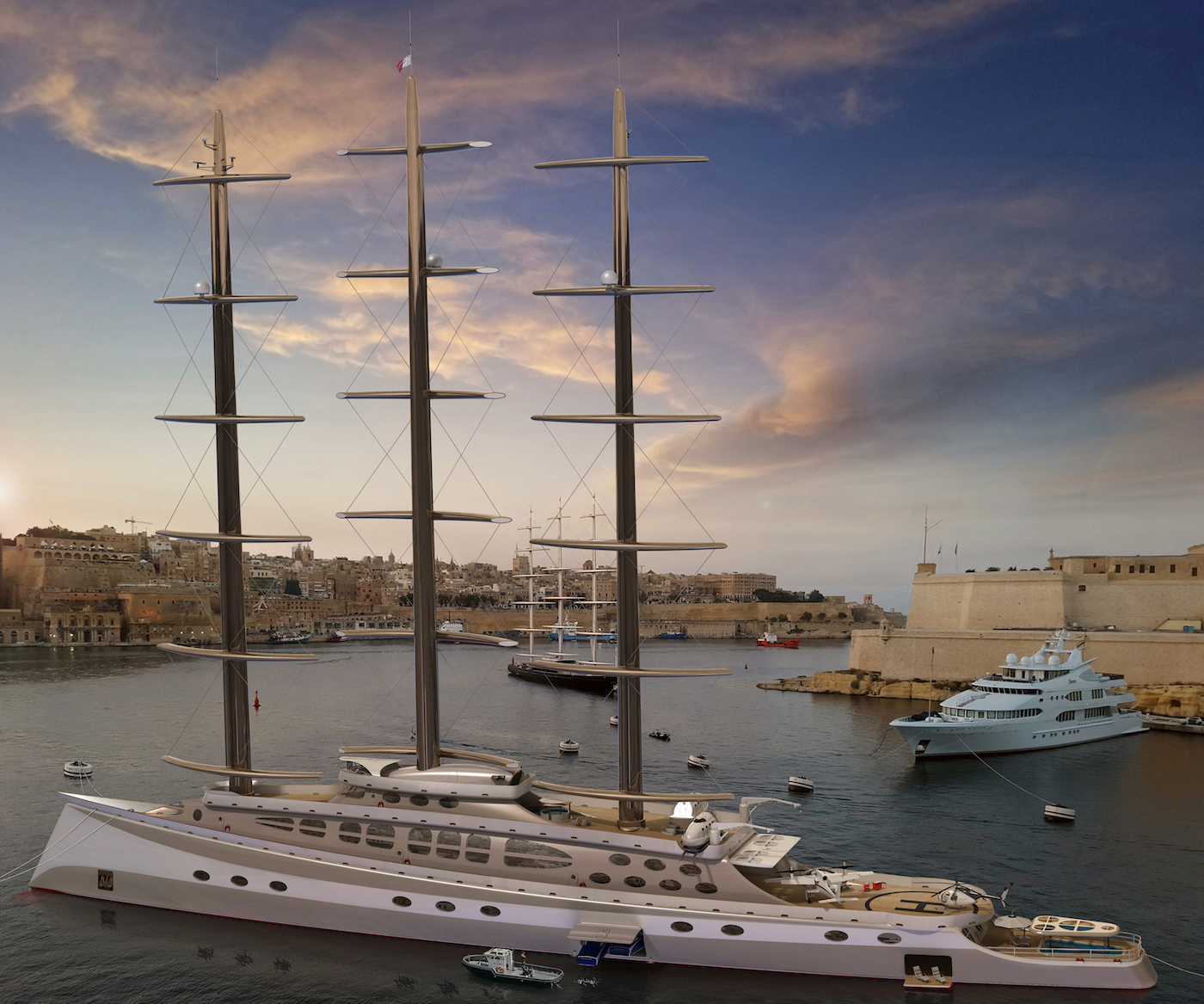 Luxury polar sailing yacht CARIBU