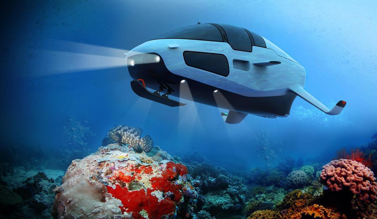 DeepSeaker DS1 under water - Image © iSpace2O