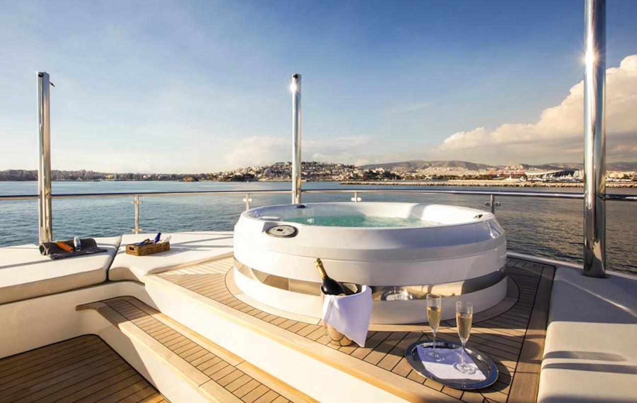 Fabulous Jacuzzi hot tub on board