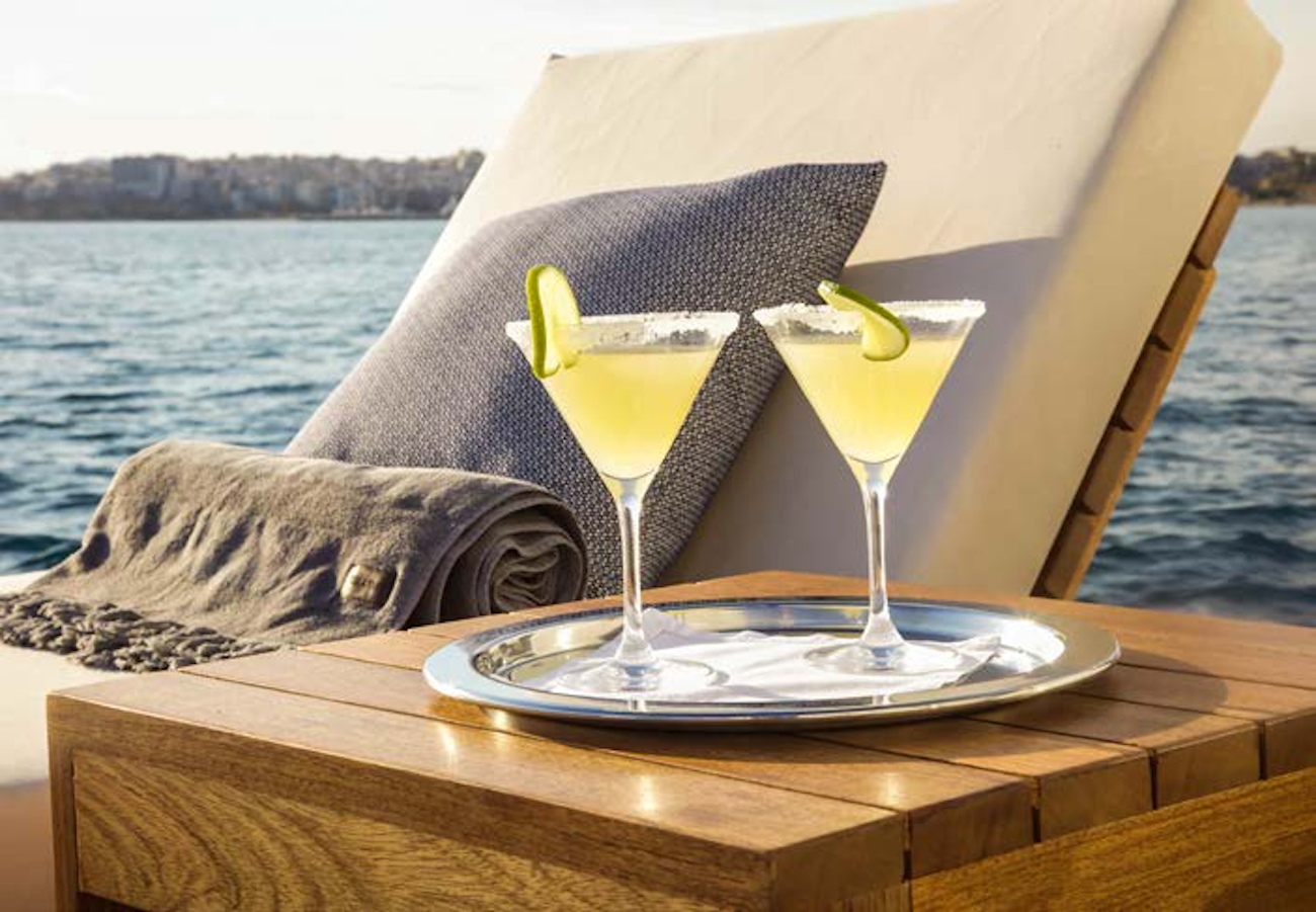 Refreshing drinks on board