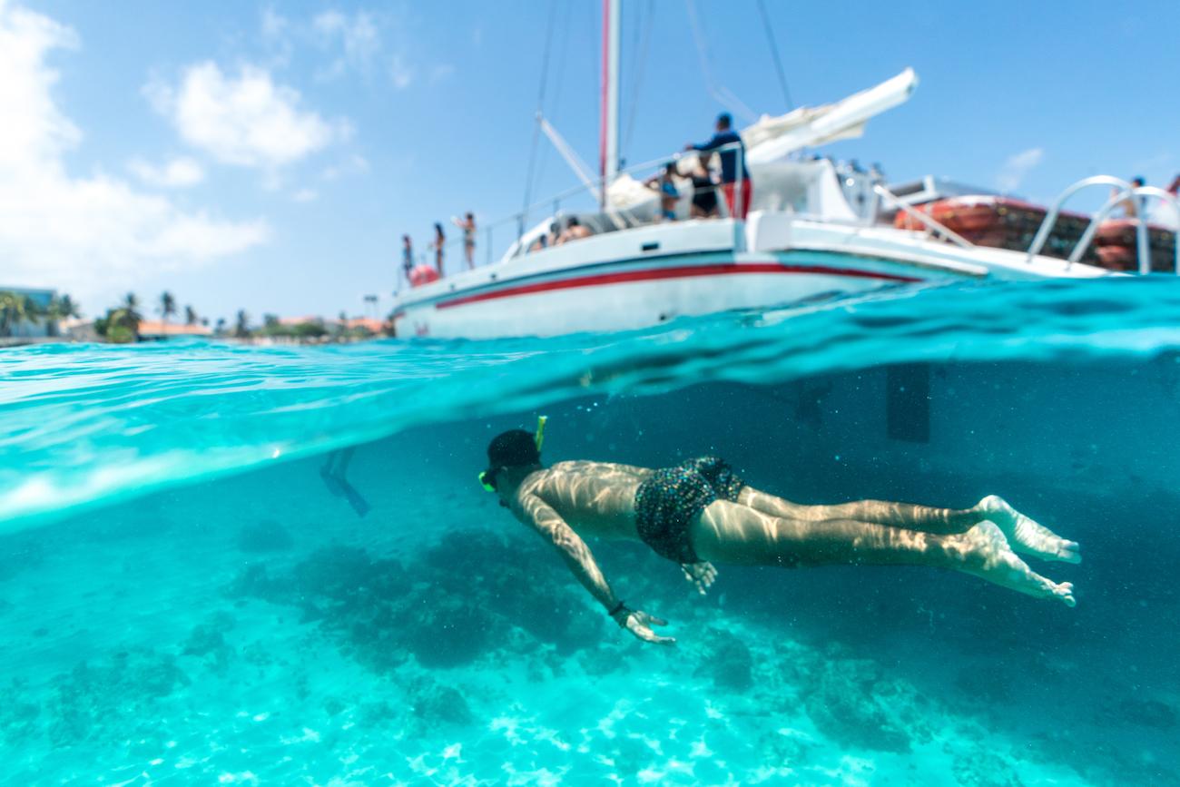 Underwater snorkelling