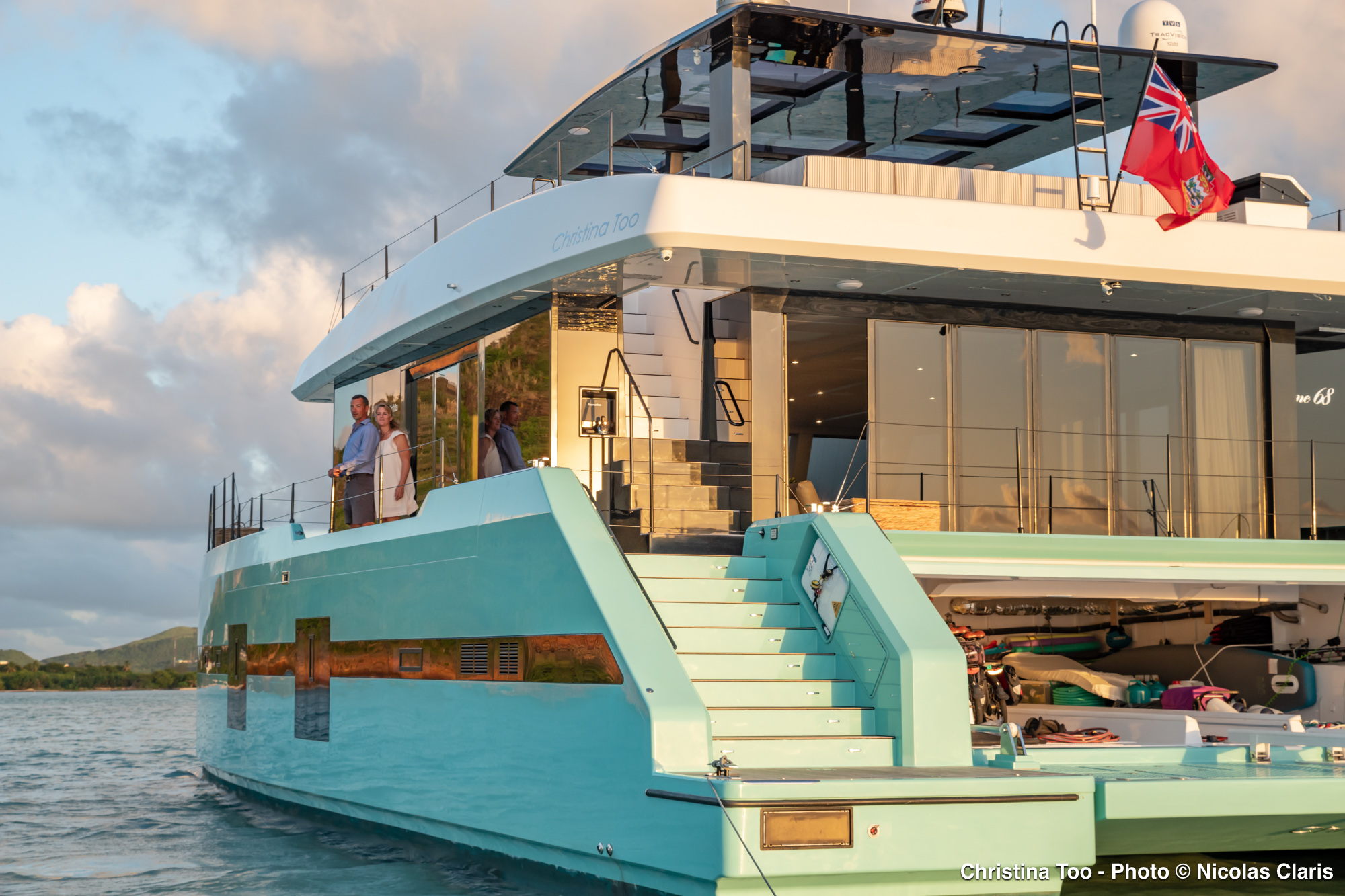 Christina Too - outstanding catamaran yacht offering luxury and relaxed vacations