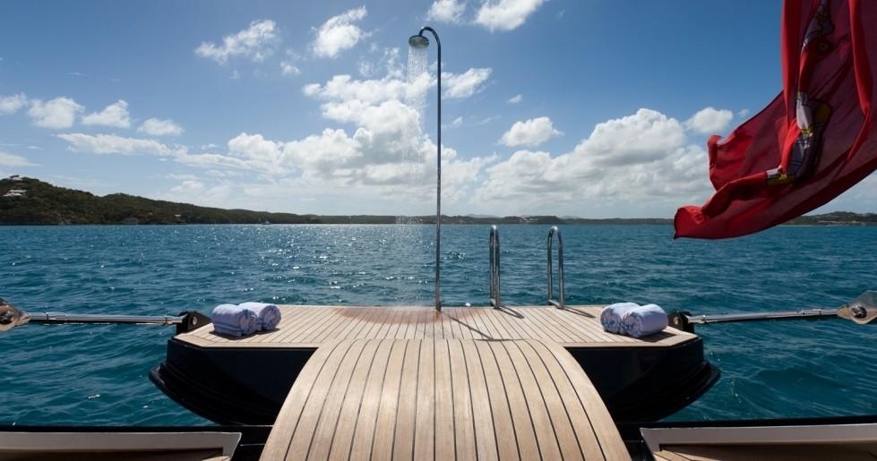 Extended swim platform