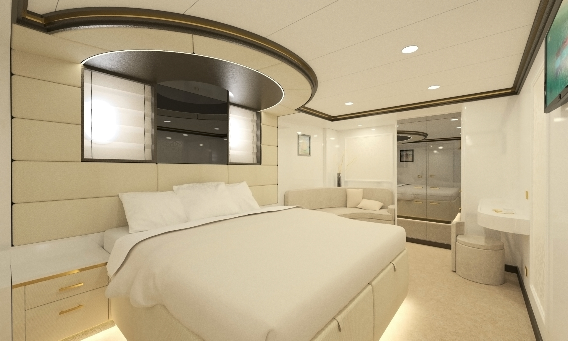 Large ensuite staterooms for guests