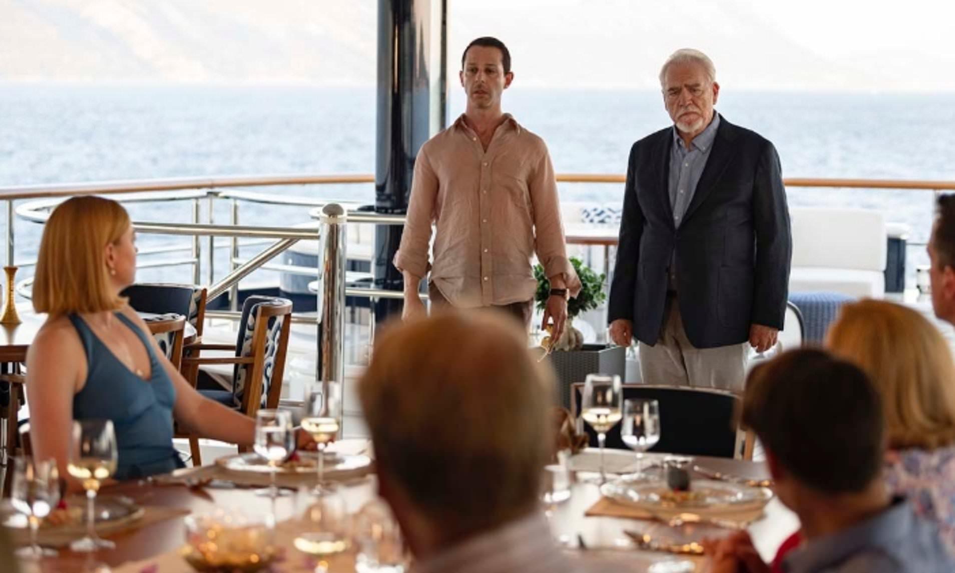 Season 2 finale of Succession filmed on board Mega Yacht Solandge - Photo © HBO