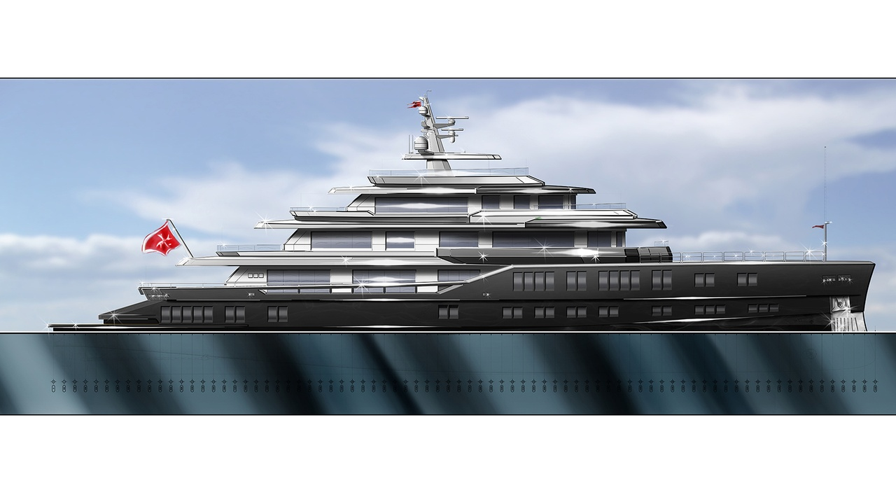Barracuda 62m superyacht - © Barracuda Yacht Design