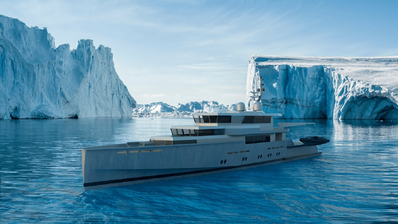 MMX45 explorer yacht concept from Malcolm McKeon Yacht Design