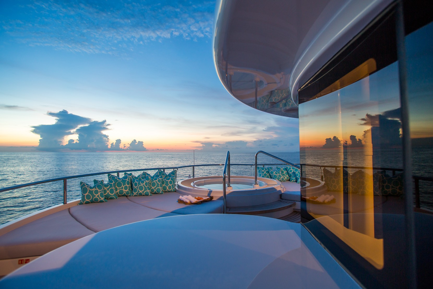 View from the Jacuzzi at sunset