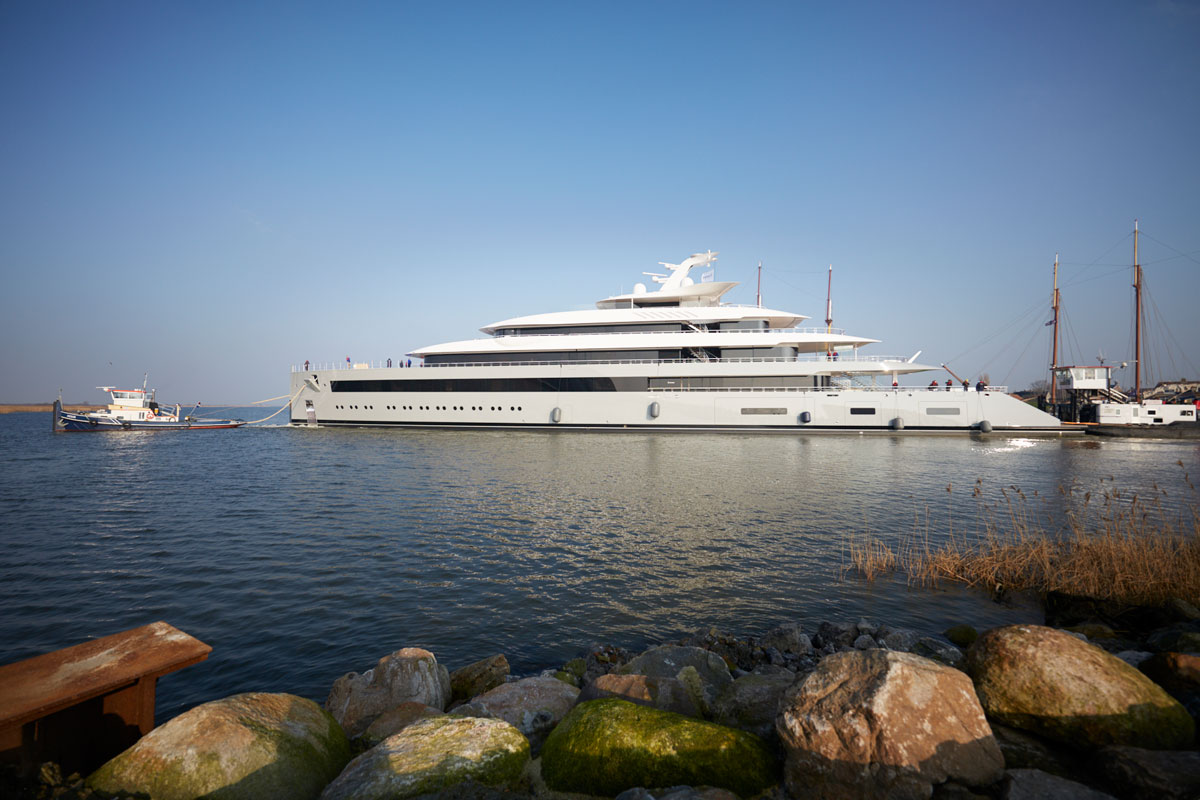 Largest Dutch super yacht MOONRISE launched at FEADSHIP - Photo © Feadship