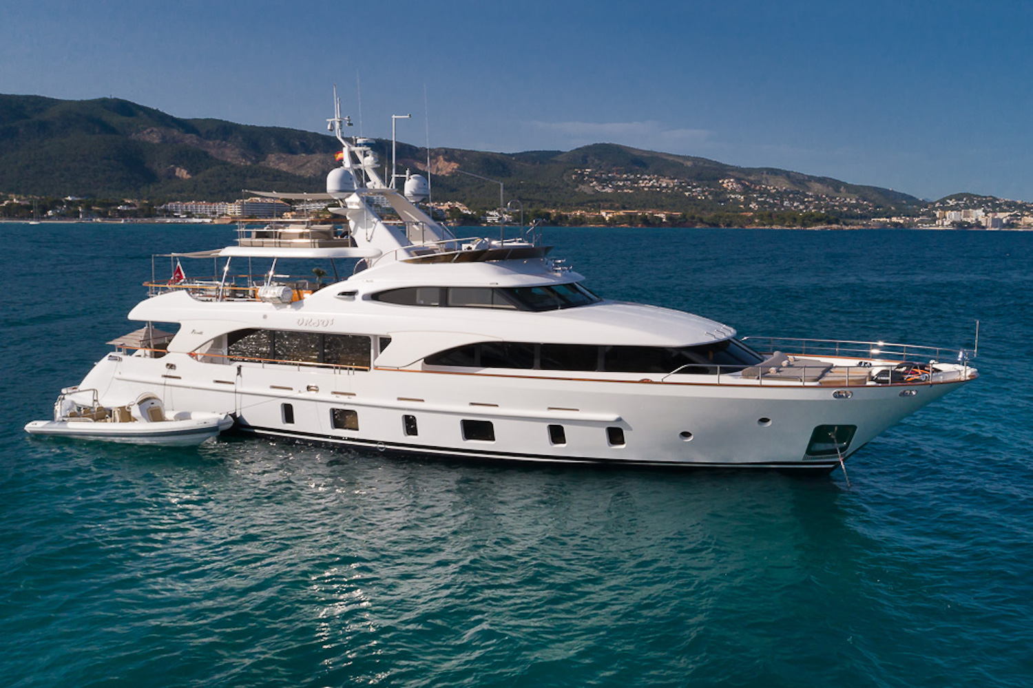 Luxury motor yacht ORSO 3 available for charter in the Balearics