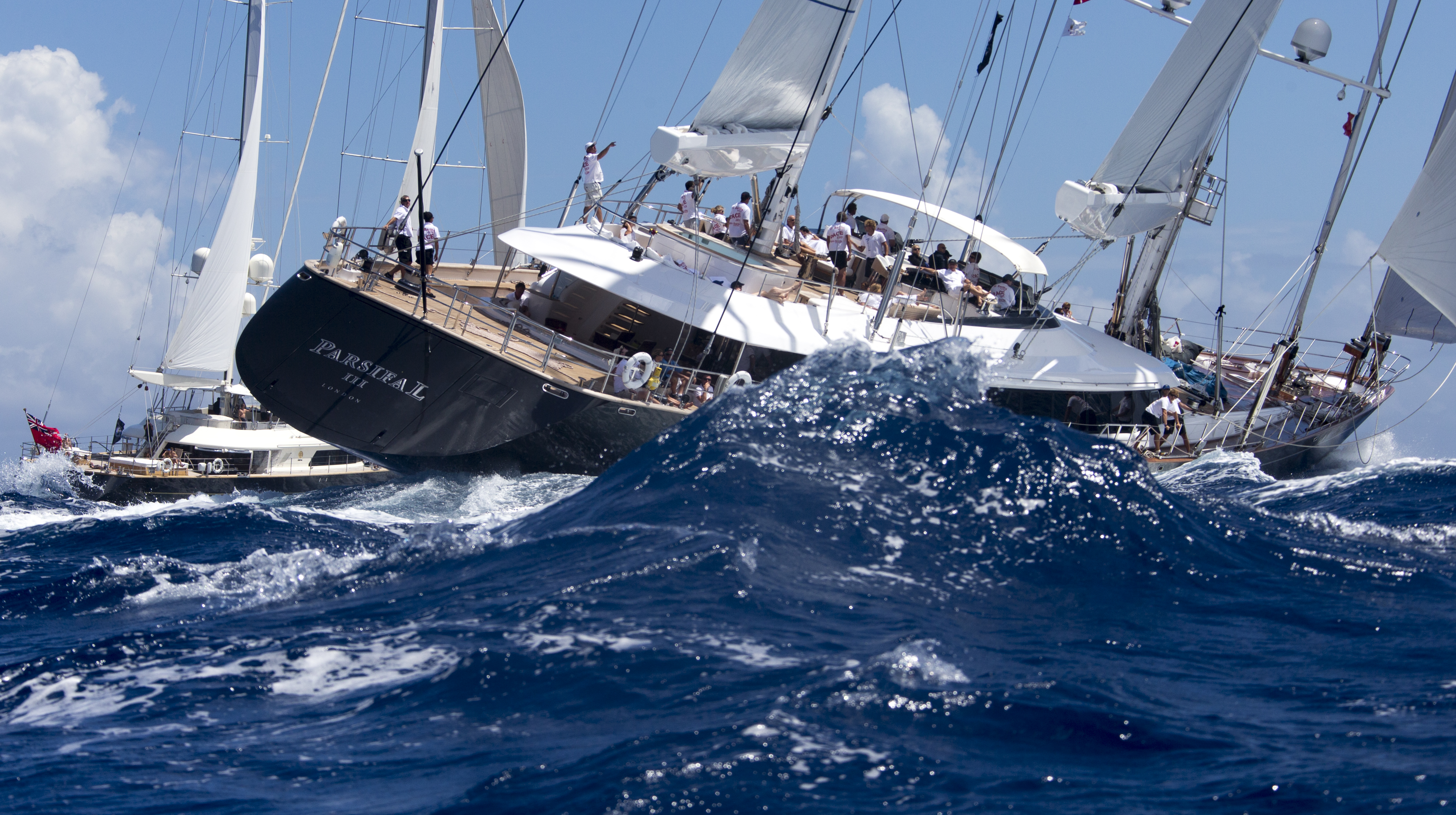 Yacht PARSIFALL races at the St Barth Bucket - Photo ©by Carlo Borlenghi