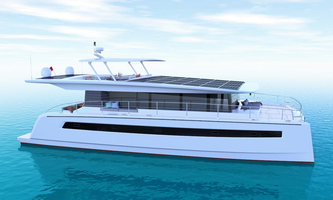 solar-electric luxury catamaran yacht Silent 60