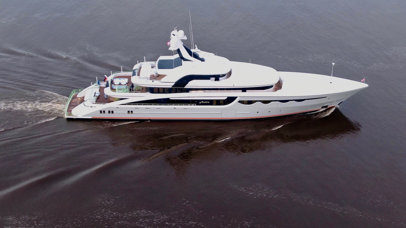 Drone view of SOARING yacht - Photo @ DrDuu