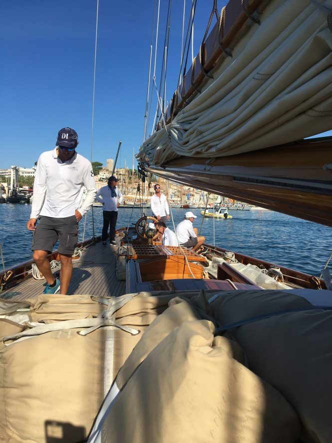 Aboard Moonbeam of Fife sailing yacht