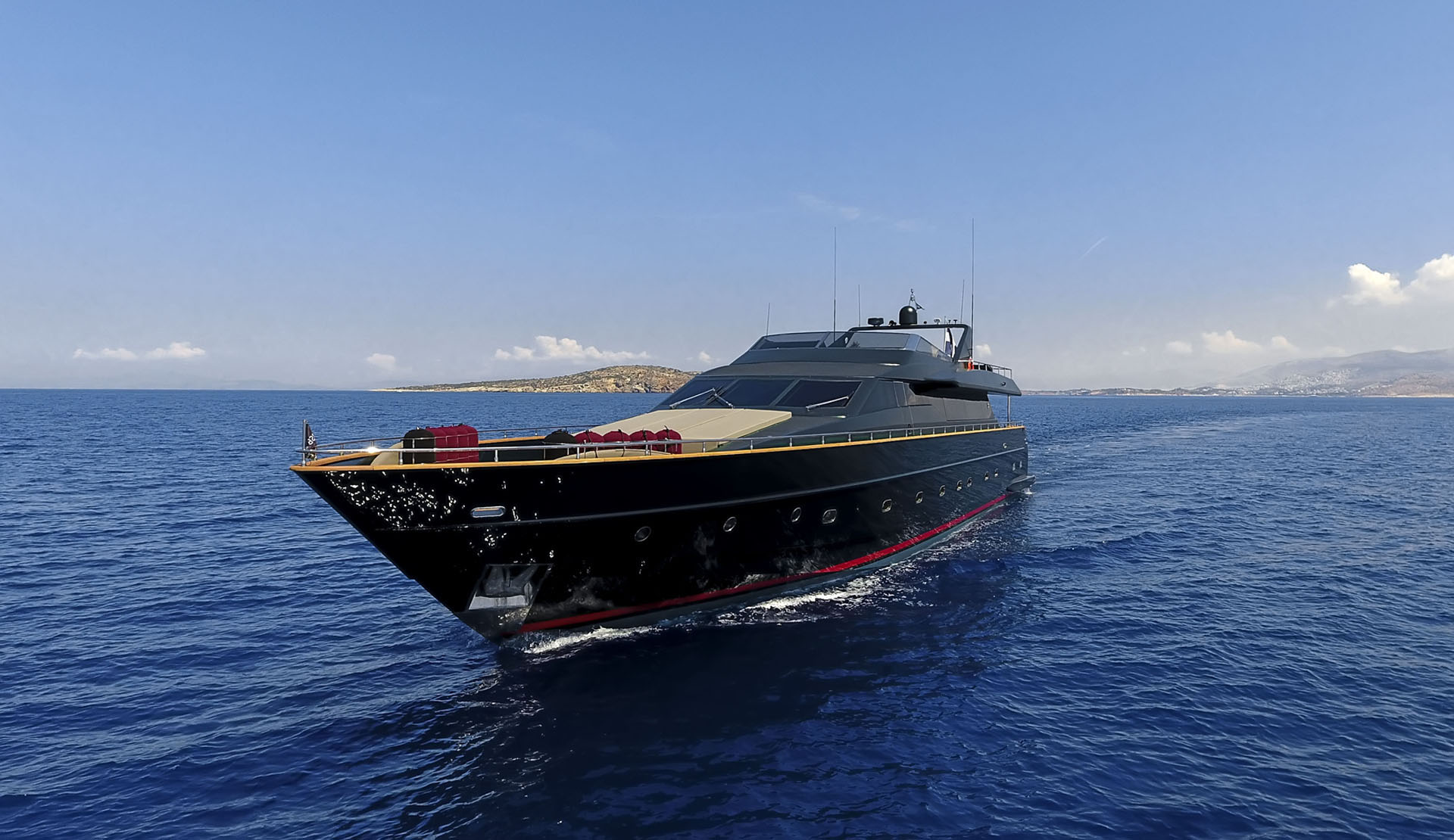 Sporty motor yacht CAN'T REMEMBER available for charter in Greece