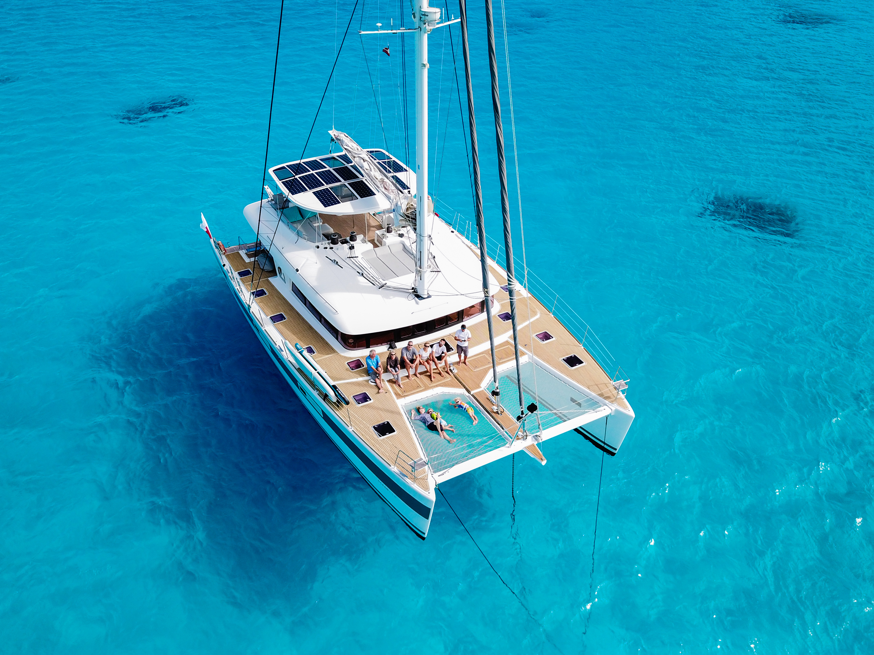aerial view of charter yacht OCEAN VIEW currently available in the Bahamas