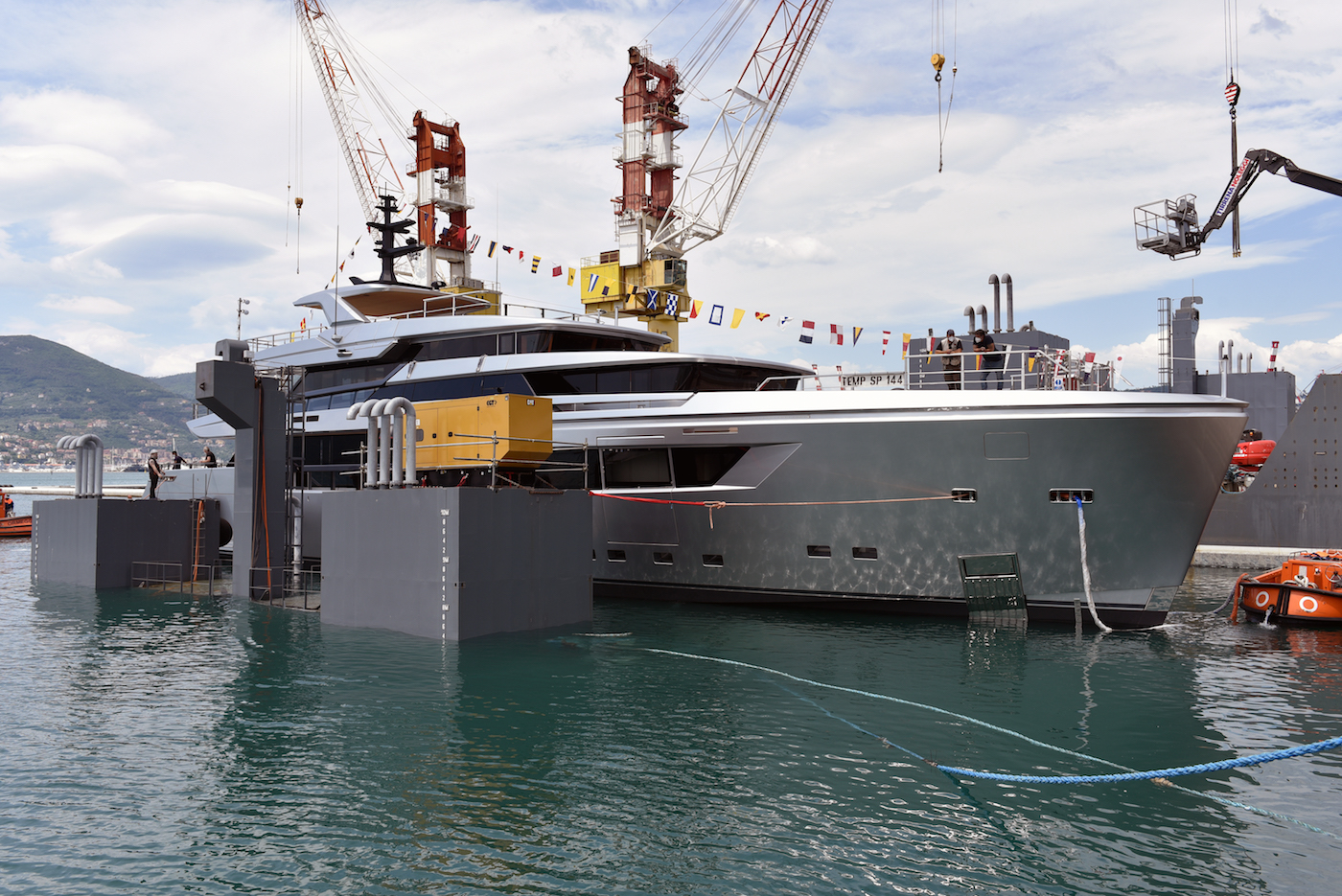 Superyacht H1 launched by Sanlorenzo