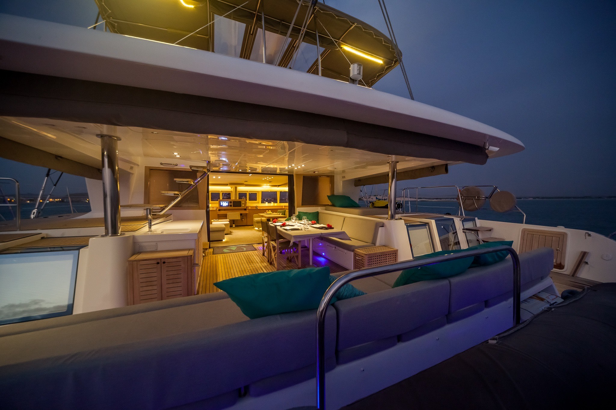spacious exterior deck areas