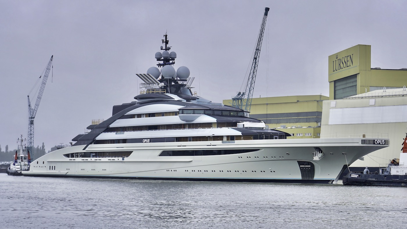Lurssen mega yacht OPUS -Photo © DrDuu