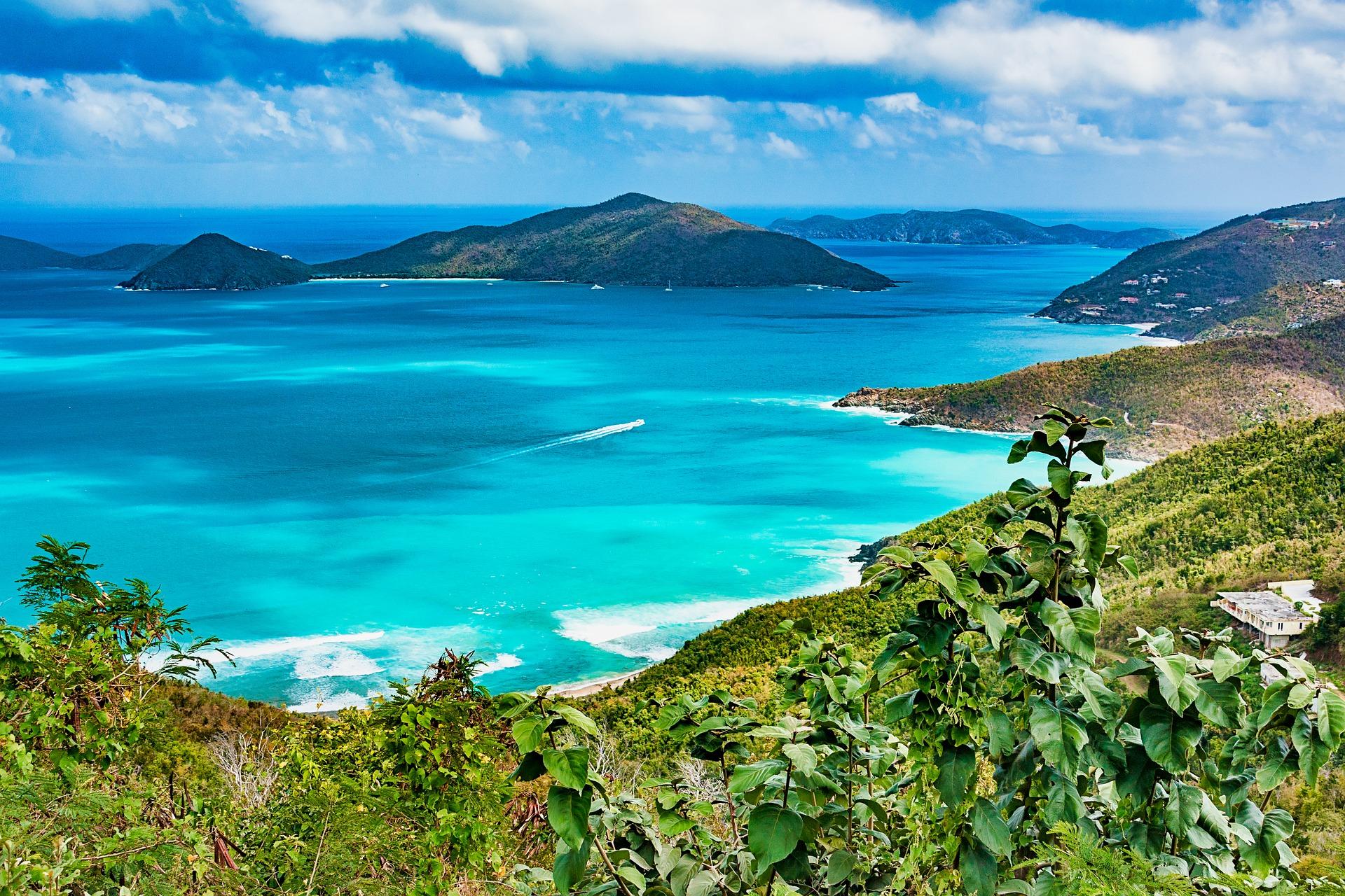 Tortola on the British Virgin Islands in the Caribbean
