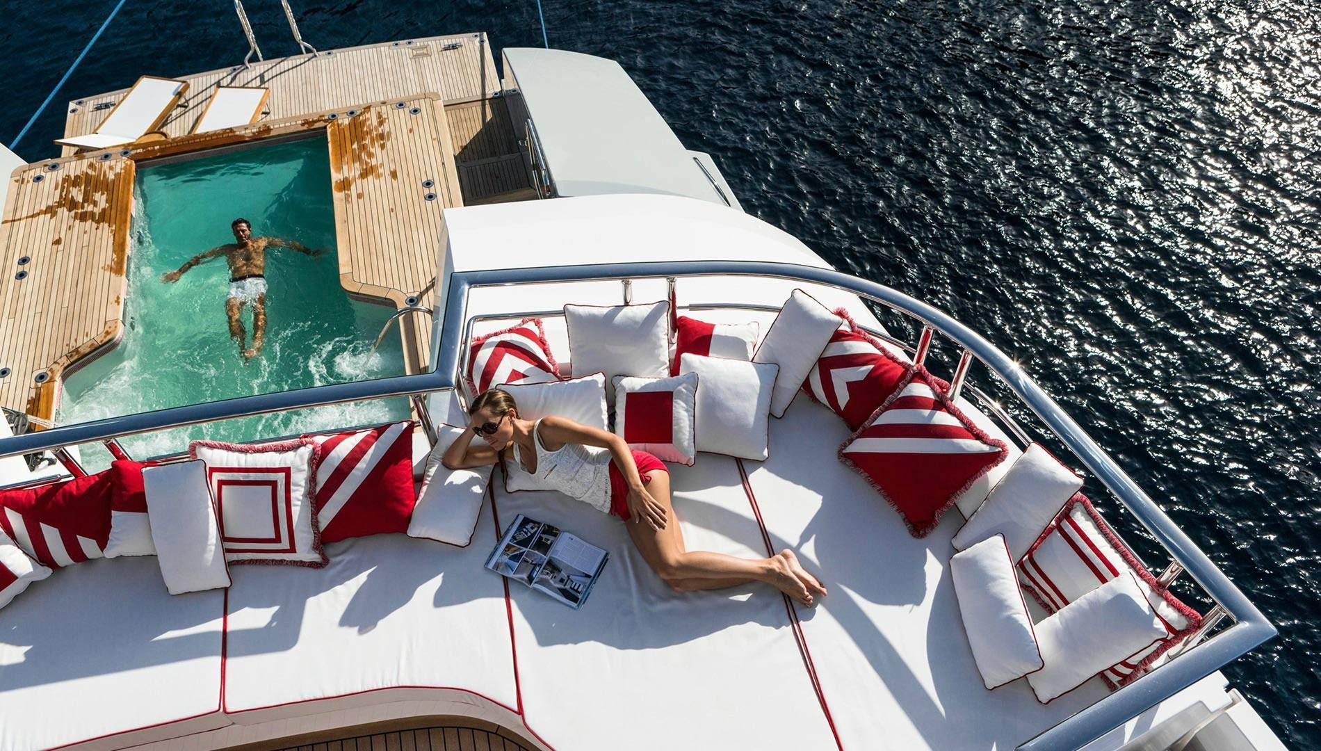 Plenty of sunbathing & relaxation areas on board