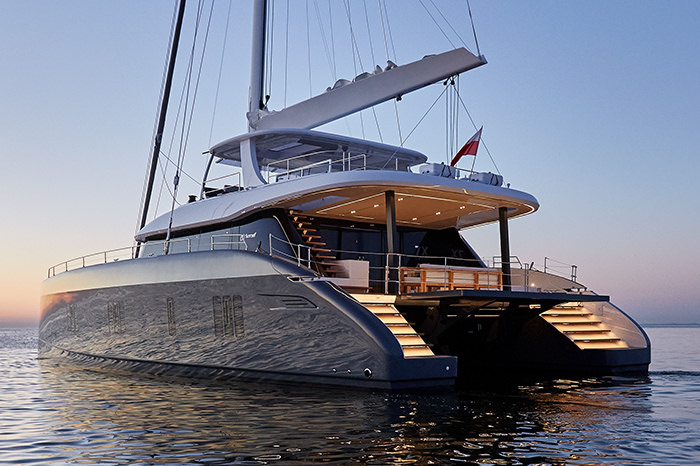 Catamaran ABOVE available for charter in the Western Mediterranean