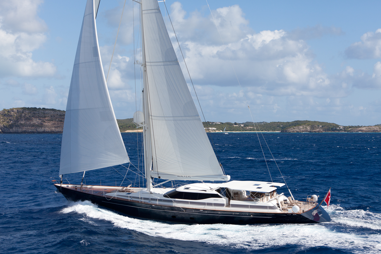 For those in love with sailing yachts GENEVIEVE is an excellent option