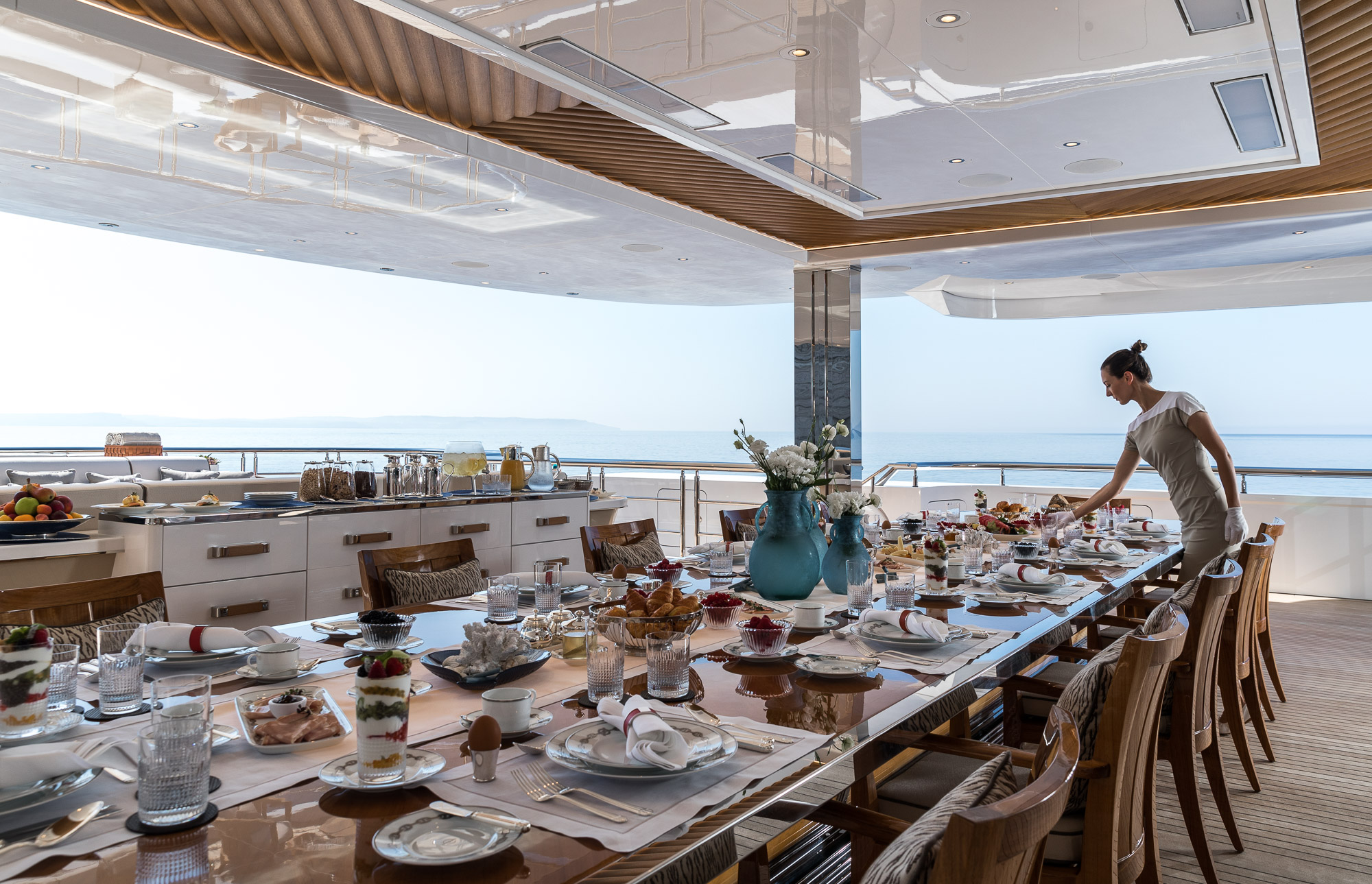 Impeccable service aboard charter yacht LANA in the Mediterranean - @ Imperial/JEFF BROWN
